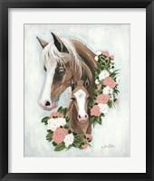 Framed Floral Ponies