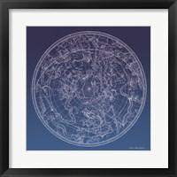 Framed Constellations Map I