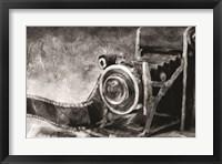 Framed Vintage Camera Black and White
