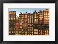 Framed Amsterdam Houses