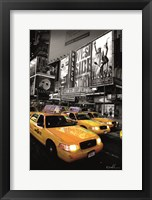 Framed Times Square Taxi I