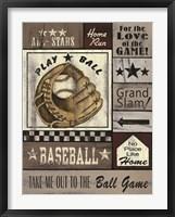 Framed Baseball All Stars