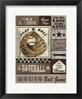 Framed Baseball All Stars