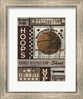 Framed Basketball Hoops
