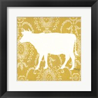 Framed Cow Silhouette