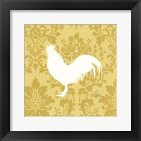 Framed Rooster Silhouette