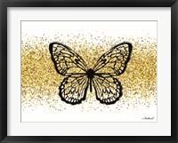 Framed Glitter Butterfly