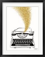 Framed Glitter Typewriter
