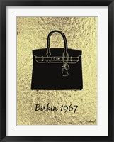 Framed Golden Birkin Trophy