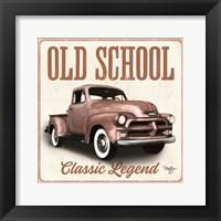 Old School Vintage Trucks I Framed Print