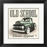 Framed Old School Vintage Trucks III