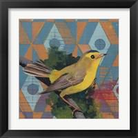 Framed Wilsons Warbler