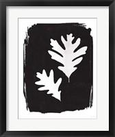Framed Nature by the Lake Leaves IV Black