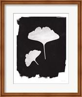 Framed Nature by the Lake Gingko II Black