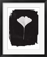 Nature by the Lake Gingko I Black Framed Print