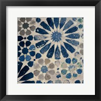 Framed Alhambra Tile III Stone