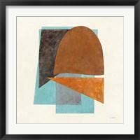 Quintet II Turquoise Framed Print