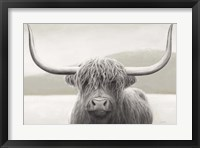 Framed Highland Cow Neutral