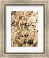Framed Graffiti Freedom Sepia