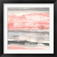 Framed Charcoal and Coral II