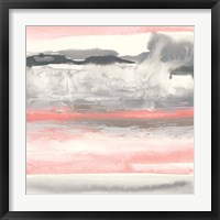 Framed Charcoal and Coral I