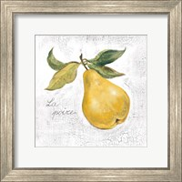 Framed La Poire on White