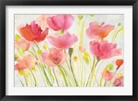 Framed Fluorescent Poppies