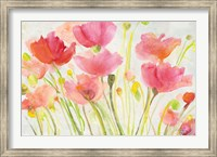 Framed Fluorescent Poppies