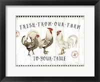Framed Free Range Fresh I v2