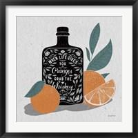 Framed Fruity Spirits Whiskey