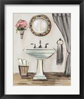 Framed Tuscan Bath IV Greige