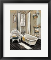 Framed French Bath II Black
