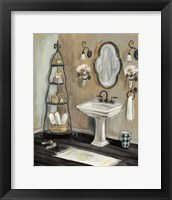 Framed French Bath I Black