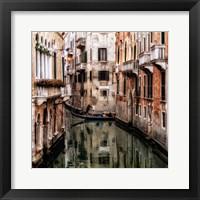 Framed Venice Boat Ride