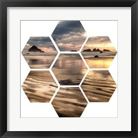 Framed Pacific Low Tide (hexagon)
