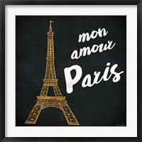 Framed Mon Paris Gold I