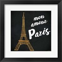 Framed Mon Paris Gold I