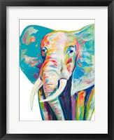 Framed Colorful Elephant