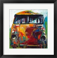Framed Retro Love Bus