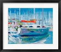 Framed Marina Sailboats