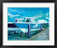 Framed Docked Boats