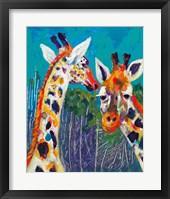 Framed Colorful Giraffes
