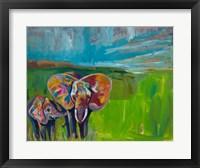 Framed Elephant's Love