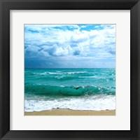 Framed Teal Surf II
