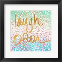 Framed Laugh Often Neon