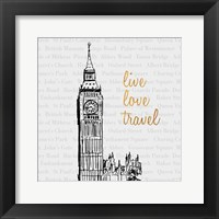 Framed Live Love Travel