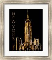 Framed New York on Black