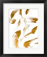 Framed Copper Strokes I
