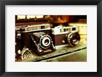 Framed Vintage Cameras