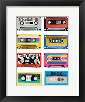 Framed Retro Mix Tapes